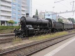 150 ans Lausanne-Bern (v8dub) Tags: train eisenbahn zug sbb lausanne locomotive bern fribourg bahn dampflok lokomotive cff sonderzug vapeur dampfzug sbbhistoric locomotiveàvapeur c56 stoomloc