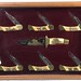 1011. Presentation Case of 7 Schrade Knives