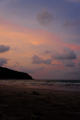 The Sea, The Sun, and Everything in Between (simplificity) Tags: sunset sea mountain seaside sony   thaisea  nex5