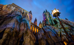Wizarding World of Harry Potter: Hogwarts (Hamilton!) Tags: world vacation castle stone night zeiss islands orlando long exposure florida sony tripod hamilton wide harry potter adventure carl land studios hogwarts za ultrawide ultra hdr gitzo slt expansion 1635 uwa hogsmeade a99 wizarding variosonnart281635 pytluk
