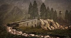 Stone Bridge at Khaled (Tripp Nitely) Tags: bridge rural landscape rustic scenic secondlife khaled