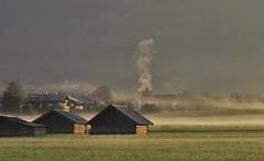 Adrian Vesa Photography (adr.vesa) Tags: fog mist nabel ceata rural morning sunrise field barns garmischpartenkirchen bayern bavaria germany