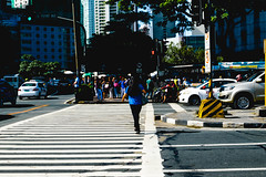 Red Light (riotvans) Tags: street blue light red photography nikon crossing cross stop makati gil ayala puyat d5300