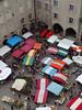 Villefranche de Rouergue - Les tentes du marché depuis le clocher de la collégiale Notre-Dame. (Gilles Daligand) Tags: aveyron jeudi marché placenotredame rouergue villefranchederouergue vuedepuisleclocherdelacollegialenotredame