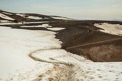 Krafla Viti Crater 16 (sarahmonious) Tags: kraflaviticrater kraftla viti myvatn kraftlavolcano volcanocrater crater hverir snow route1iceland route1 ringroad iceland iceland2016 icelanding2016 traveling