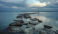 Sibbald Point (corybeatty) Tags: sibbald point provincial park parks canada ontario beach shore rocks sky clouds lake clear long exposure nature landscape color