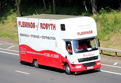 DAF LF - FLEMINGS of ROSYTH (scotrailm 63A) Tags: lorries trucks removals