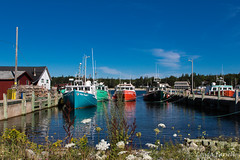 Hunts Point Wharf (londa.farrell) Tags: 2016 august canada canon canondslr canoneos7dmarkii huntspoint novascotia southshore summer boat boats wharf fishingboat lobsterboat ocean water dock