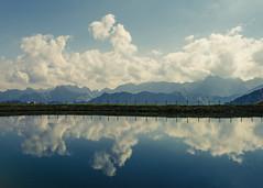 Mountaintop Reflections (Netsrak) Tags: oberstdorf bayern deutschland de mountain mountains layer layers ebene ebenen water wasser reflektion reflection cloud clouds wolke wolken alpen alps austria at