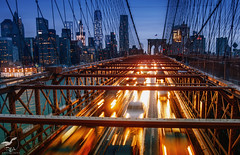 Rush Hour On the Brooklyn Bridge (REA // Photography) Tags: bridge brooklyn brooklynbridge brooklynny city cityscape freedomtower manhattan manhattanskyline nyc newyorkcity oneworldtradecenter rushhour skyline urban urbanscape