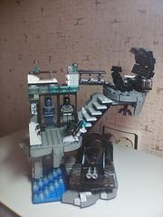 Batcave V3 in real life (rybalchenko.custom) Tags: lego batman batcave bat cave batmobile rocks lab costumes