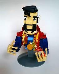 Doctor Strange (Roy of Floremheim) Tags: lego moc creation build character bust stevenstrange marvel comics superheroes darkred darkblue royoffloremheim head torso collar robes necklace spell magic sorcerer supreme