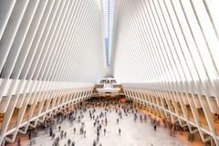 Oculus train station New York (urbanexpl0rer) Tags: ny nyc newyork architecture modern design trainstation white symmetry lines inside hallway longexposure station daytime modernarchitecture