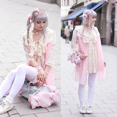Cult party kei coord by Soyeon C., 18 year old Fashion student & blogger from Finland (9lookbook.com) Tags: fairykei lolitafashion pastel pastelhair pinkhair purplehair senpai sweetlolita