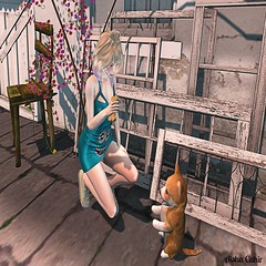 - Look 644 - (aisha.cahir  {Blogger}) Tags: secondlife sl aliengizmos dress kawaii miwas fashiowlposes pet sneakers free