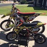 """FAMmx Design Suzuki Remix Graphics for former Factory Pro Circuit Kawasaki rider and AMA Rookie of the Year Bobby Bonds along with a matching kit for his son, Race Bonds. <a style=""""margin-left:10px; font-size:0.8em;"""" href=""""http://www.flickr.com/photos/99185451@N05/29351801902/"""" target=""""_blank"""">@flickr</a>"""