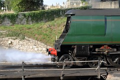 Air smoothed (Michael@H) Tags: bulleid lightweightpacific battleofbritain 34070 manston sr br swanagerailway turntable coaling