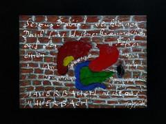 Thank-you Note to Fabio for pointing out a mistake in the title of one of my pictures here on flickr - Mauerbauch nicht aus Mauerbach. :-) Dank an Fabio Keiner für`s Aufzeigen eines Fehlers !!!! (hedbavny) Tags: mailart danke dank thanks thankyounote mauer wall wand ziegel brick ziegelmauer raster linie line white weis red rot blau blue green grün yellow gelb mauerbach mauerbauch bauch belly abdomen tummy oilstick drawing zeichnung innereien organe magen milz galle gallenblase leber zwölffingerdarm darm pankreas bauchspeicheldrüse anatomie fehler mistake tippfehler schrift handschrift nachricht freudianslip inspiration idee niederösterreich loweraustria umgebung wien vienna austria österreich hedbavny ingridhedbavny anatomy körper body textur
