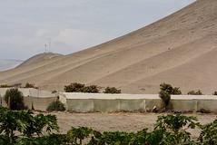 fog tent (cam17) Tags: arica chile aricachile fogcatcher garuacatcher irrigationsystem fogcatchingnet petroglyphs stonefigures atacamadesert atacama fogtent geoglyph