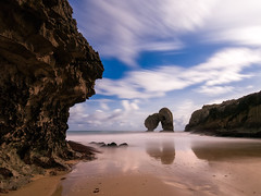 Moonlight Beach (bertigarcas) Tags: olympus omd em5 zuiko 918 paisaje landscape nightscape nocturna luna moonlight beach playa llanes asturias castro espaa spain