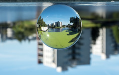 Groningen op z'n kop (Mr.6 Photography) Tags: groningen crystalball ball weather upsidedown abstract building architecture summer landscape city citylife cityview
