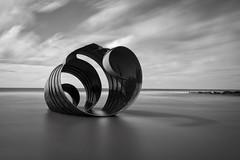 'It's a shell out'.... (Taken-By-Me) Tags: takenbyme black white blackandwhite blackpool cleveleys shell beach sand sea clouds momo monochrome nikon d750