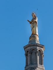 Notre Dame des Doms - Avignon - [Vaucluse] (Thierry CHARDES) Tags: statut vierge palaisdespapes notredamedesdoms comtatvanaissin provence avignon paca france papes popes