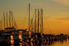 Michigan City Harbor at Sunset 9-12-2016 8604 (www.cemillerphotography.com) Tags: lakefront lakemichigan sundown dusk nightfall washingtonpark recreation megawatt energy emissions indiana factory smokestack smoke
