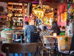 Mexican restaurant (Vincent F Tsai) Tags: colorful colours vivid vibrant scene dinner restaurant tables minolta rokkor manual metabones speedbooster panasonic lumixgx8 bokeh