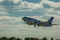 Belavia (Valery Parkhomenko) Tags: nikon d50 70300mm kyiv ukraine air aircraft sky skyline