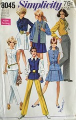 8045 (mrogers1@uw.edu) Tags: 1960s sewingpatterncollection skirt jacket blouse pants vintage sewing patterns simplicity skirts blouses vests