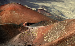 Walking Mount Etna (Gay Biddlecombe) Tags: sicily italy mountetna volcanoes people lave brown