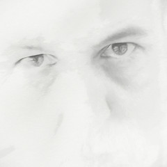Look Into My Eyes (ScottNorrisPhoto) Tags: highkey white bright squarecrop face eyes glare stare selfportrait impression fineartphotography minimalist minimal grey blackandwhite man head portrait unique look gaze 365project photography photoaday photooftheday explore scottnorrisphotography topazglow topazimpression milwaukee wisconsin usa
