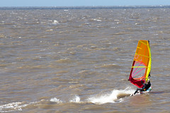 Getting up some speed. (wells117) Tags: 2016 700d board canon clivewells hunstanton norfolk oct oct2016 october october2016 sail sea seaside speed surfing thewash wash water windsurfing sport action actionshot