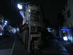 Two Roads (CentipedeCarpet) Tags: panasonic gx8 micro four thirds tokyo japan oku nishiogu night street unlimited photos 918mm 918mmf456 wide