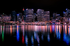 Darling Harbour (Myreality2) Tags: australia night lights darlingharbour sydney reflection cityscape nightshot newsouthwales au