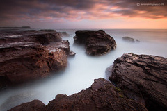 Breaking Point (SoniaMphotography) Tags: ocean longexposure sea seascape sunrise rocks warm glow australia nsw kiama 2013 rockshelf
