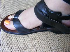 DSCF9964 (sandalman444) Tags: color male feet toes sandals nail polish mens pedicure toenails toerrings