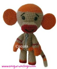 Free amigurumi monkey pattern (Sharon Ojala's Flickr) Tags: monkey pattern crochet free zipper amigurumi sackboy