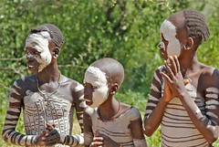 On the Road in the Omo Valley (**El-Len**) Tags: africa children bodypaint omovalley ethiopia tribe groupportrait ethnic hamer eastafrica fav10 snnpr southernnationsnationalitiesandpeoplesregion