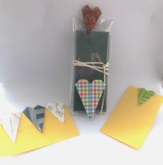 Langes Herz - Long shaped heart (Vielfaeltig2010) Tags: origami heart herz papierfalten vielfaeltig2010 corienschiefer origamitabledecoration origamibagclosure