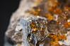 Spessartine Garnets+smokey quartz+mica(i think) (The steelyglint) Tags: nikon garnets gemstone smokeyquartz spessartine nikond40