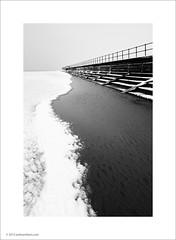 Sea Wall (Ian Bramham) Tags: sea snow wall landscape photo crosby blundellsands ianbramham