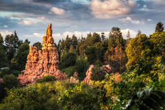 Big Thunder Peak (Justin in SD) Tags: railroad sunset canon ride dusk disneyland canon5d hdr themepark attraction bigthundermountain bigthunder btmrr canon5dmarkiii 5d3 5dmark3