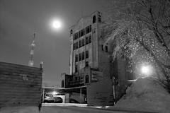 Two Moons (Kirill Bannov Photography) Tags: city longexposure winter moon tree abandoned architecture night lights russia ru hdr chelyabinsk россия 3xp челябинск 74ru 174ru