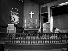 Icon (Narratography by APJ) Tags: blackandwhite bw ny church hope cross faith alter pulpit stjames apj narratography
