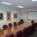 VEDP conference room - framed art and framed whiteboard