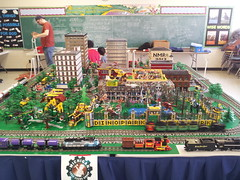 "MICHLUG at Ye Old Toy and train show St Robert Bellarmine Community Church Redford 2013-01-27  (6) (""MOOSE"") Tags: show park old robert church st train toy community track different dino lego dinosaur michigan bricks engine steam american blocks ye bellarmine michlug redford michltc 20130127"