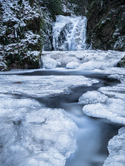 Finding a Way (andywon) Tags: snow cold ice nature water river germany landscape waterfall rocks stream wasserfall badenbaden schwarzwald blackforest badenwrttemberg geroldsau blackforestwaterfalls