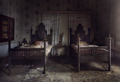 Deathbed  ( explore ) (andre govia.) Tags: world urban abandoned film canon buildings out photo closed photos decay exploring explorer down images andre creepy business ghosts left cinematic ue urbex bounds govia